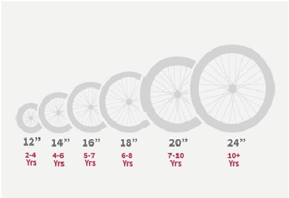 Wheel Size by Age and Height Image