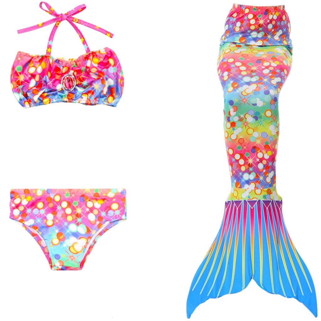 Photo of GALLDEALS Mermaid with Swimmable Costume for Girls