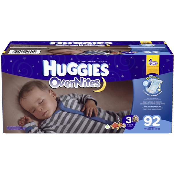 Picture of Huggies Size 3 OverNites Diapers