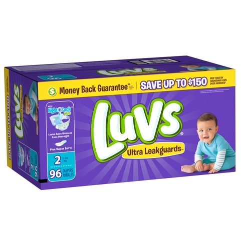 Photo of Luvs Triple Leakguards Diapers, Size 2
