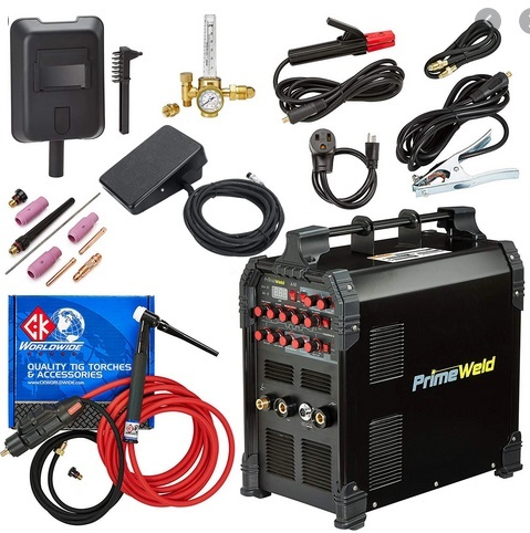 Picture of PRIMEWELD TIG225X TIG/Stick welder with Pulse CK17 Flex Torch and Cable
