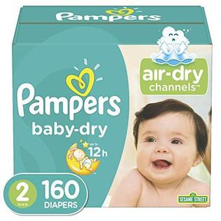Image of Pampers Baby Dry Disposable Baby Diapers, Size 2