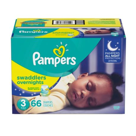 Photo of Pampers Swaddlers Overnights Disposable Baby Diapers, Size 3