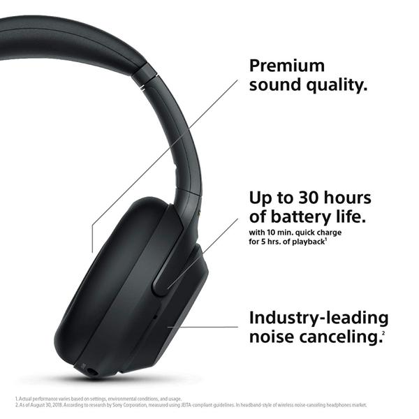 Photo of Sony Noise Cancelling Headphones WH1000XM3: Wireless Bluetooth Over the Ear Headset with Mic