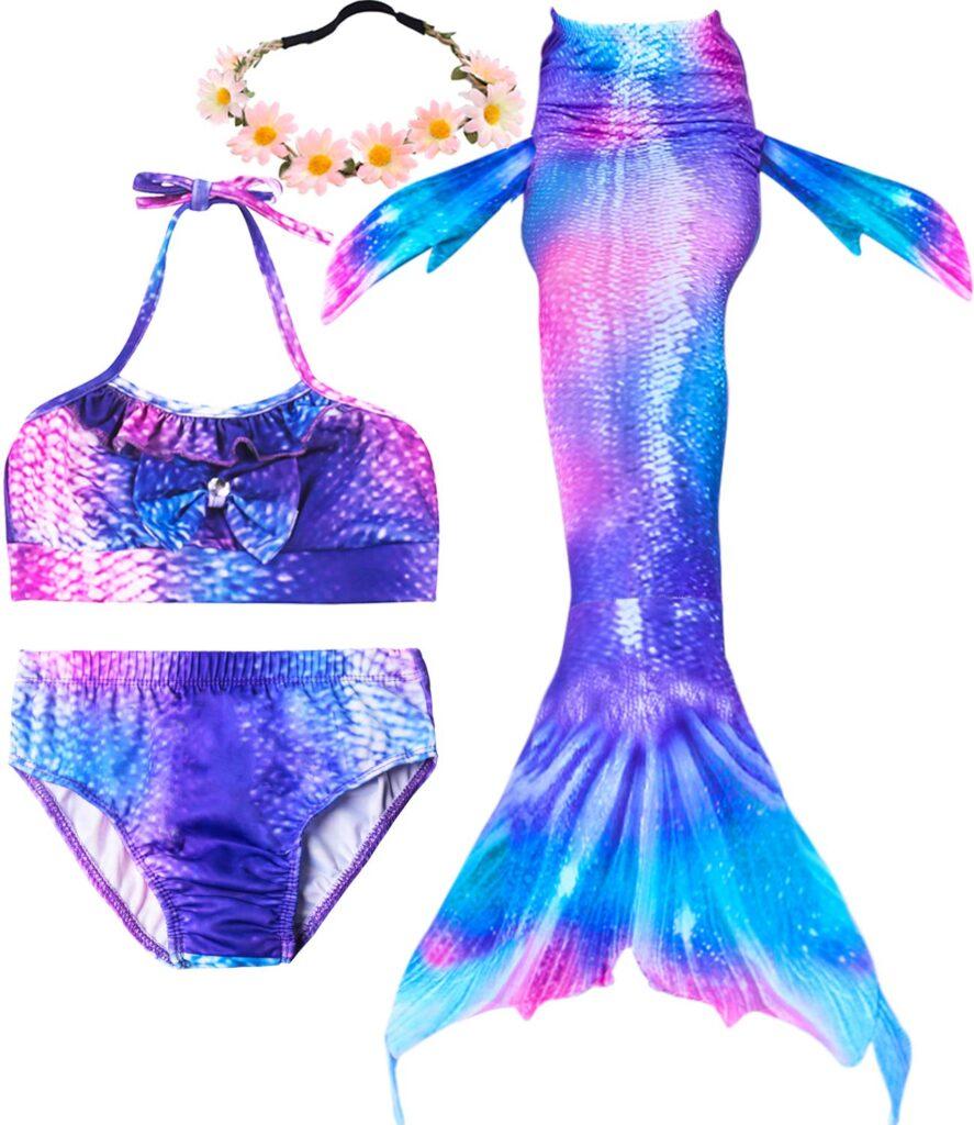Image of iGeeKid 3 Pcs Girls Swimsuit Mermaid