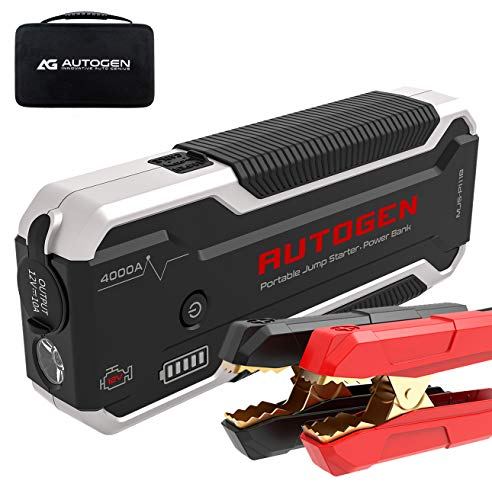 Image of AUTOGEN 4000A Car Jump Starter - Portable Battery Jumper Box Booster Pack for Cars, SUVs, Trucks