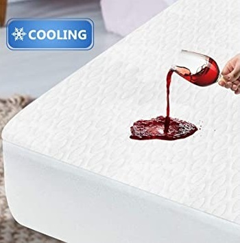 Image of ENITYA Cooling Twin Mattress Protector Waterproof - Breathable