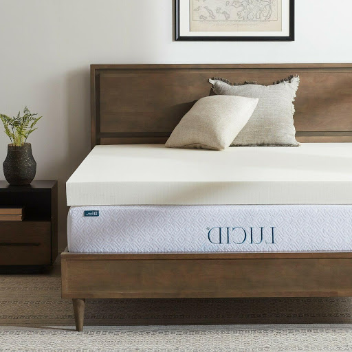 Photo of Lucid Foam Mattress Topper with Ventilated Design