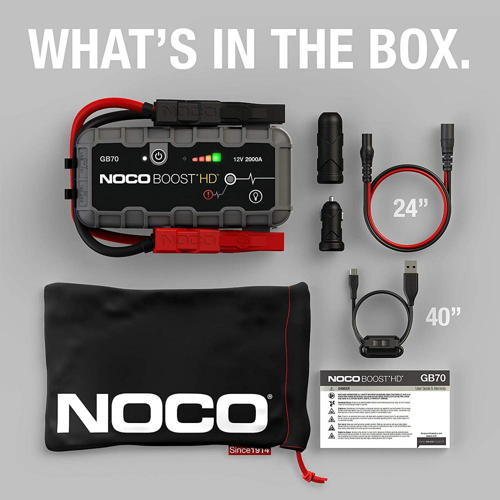 Image of NOCO Boost Portable Lithium Car Battery Jump Starter Pack For Up To 10-Liter Gasoline And Diesel Engines