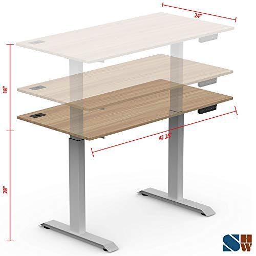 Image of Oak Electric Height Adjustable Computer Desk