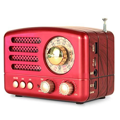 Photo of PRUNUS J-160 AM FM Portable Retro Radio Bluetooth Speaker