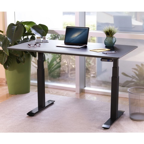 Image of Seville Classics AIRLIFT Pro Solid-Top Commercial-Grade Electric Adjustable Standing Desk