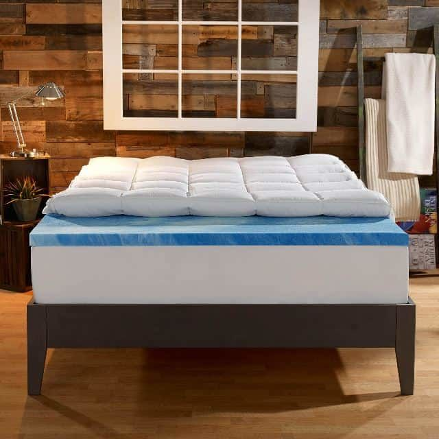 Picture of Sleep Innovations 4 Inch Gel Memory Foam Mattress Topper Dual Layer