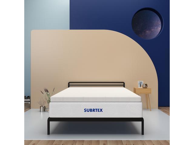 Image of Subrtex 4 Inch Gel Memory Foam Mattress Toppers