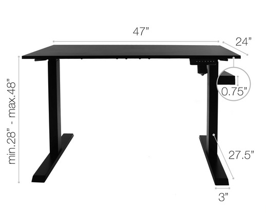 Photo of TechOrbits Electric Standing Desk Frame 60 x 24 Inch Tabletop