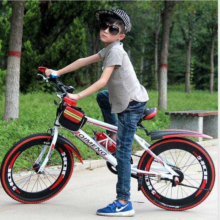 Image of 10 year old kid on bike