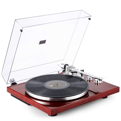 Photo of 1byone Belt-Drive Turntable with Wireless Connectivity and Built-in Phono Preamp