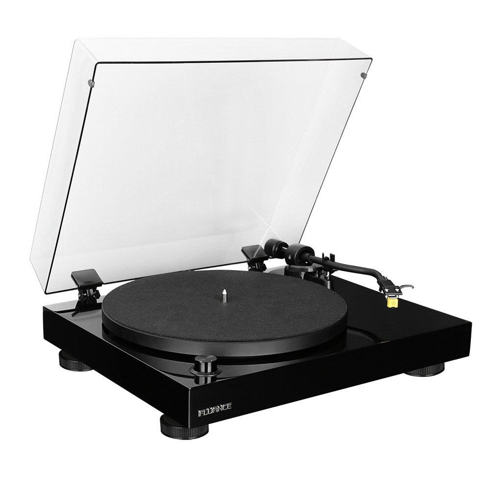 Photo of Fluance RT80 Classic High Fidelity Vinyl Turntable with Audio Technica AT91 Cartridge, Belt Drive, Built-in Preamp, Adjustable Counterweight