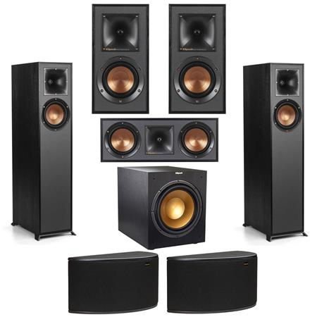 Picture of Klipsch R-610F Floor-standing Home Speaker with R-52C Center Channel and R-41M Bookshelf Speaker