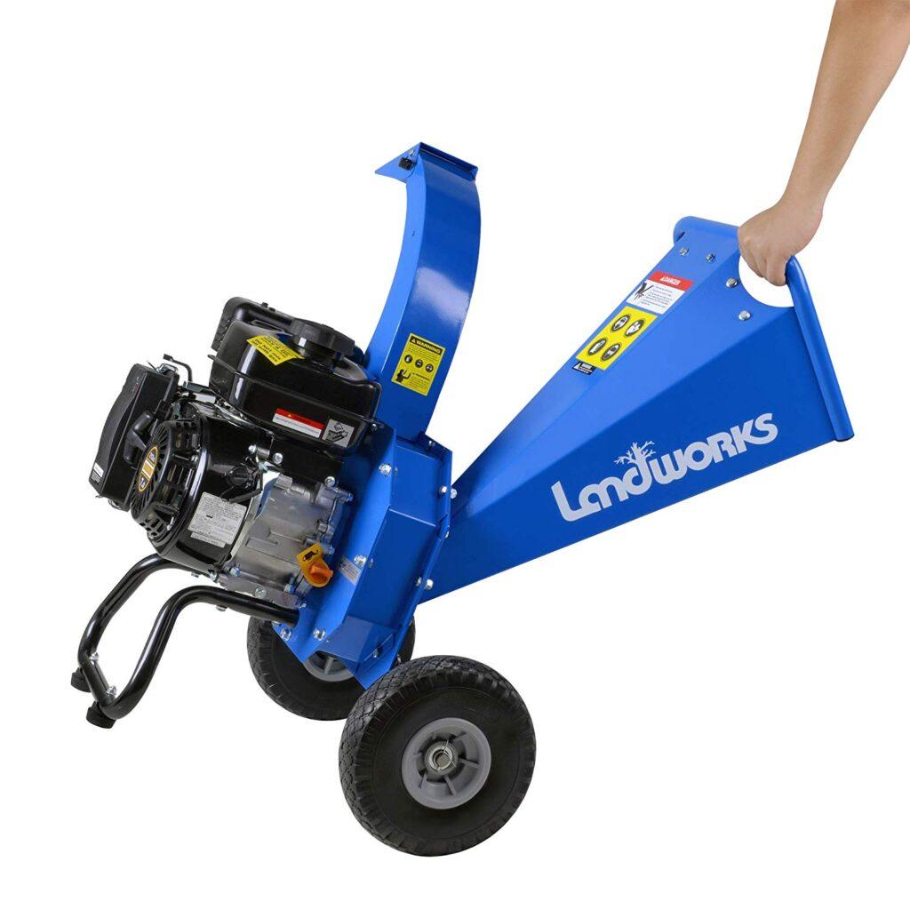 Photo of Landworks Mini Wood Chipper Shredder Mulcher, 212cc