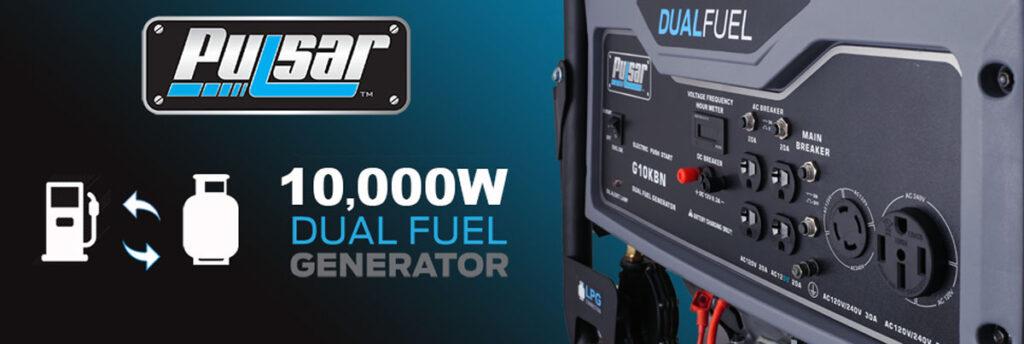 Image of Pulsar G10KBN 10,000 Watt Portable Dual-Fuel Generator