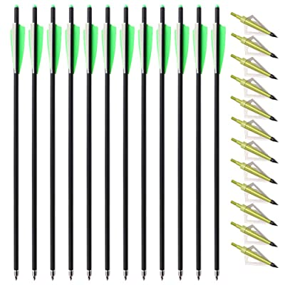 Photo of TOPARCHERY Carbon Crossbow Bolts 20-inch