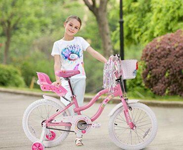 Image of COEWSKE 7-Year-Old Girl Bike Little Princess Style