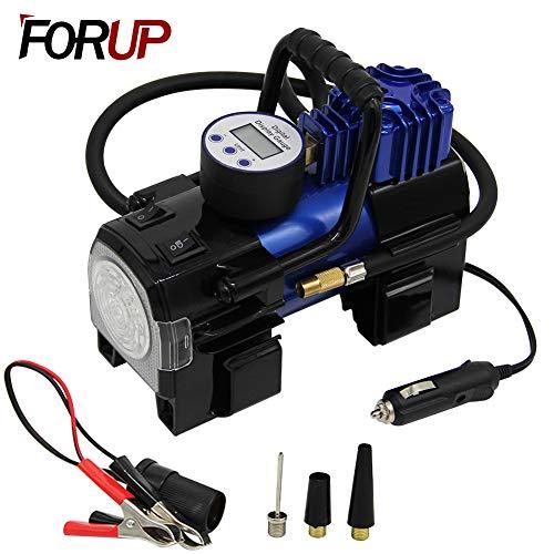 Image of FORUP 12-Volt Dual Cylinder Air Compressor Pump with Digital Display