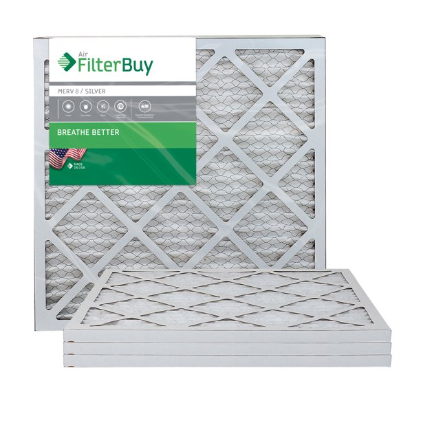 Image of FilterBuy Silver MERV 8 Pleated AC Filters for Airflow