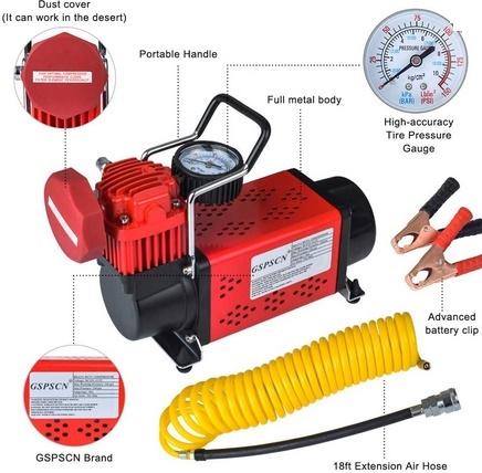 Picture of GSPSCN Portable 12V Air Compressor Pump