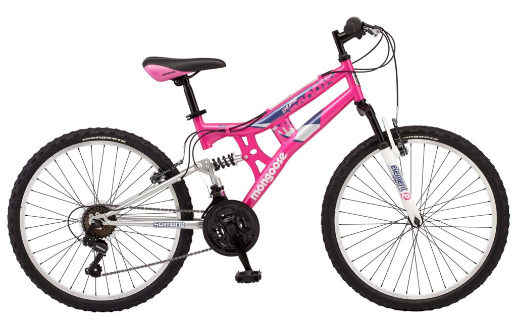 Picture of Mongoose Exlipse Full Dual- Suspension 11 Year Old Girls Mountain Bike