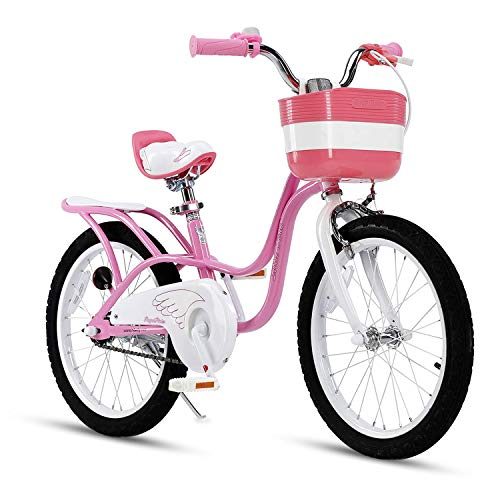 Picture of RoyalBaby Little Swan Girls Child's Bicycle Pink White