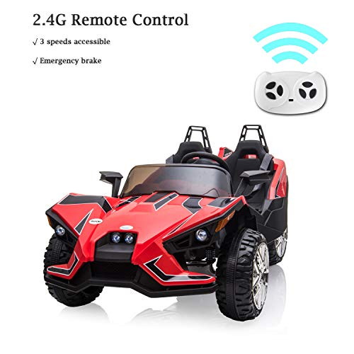 Picture of BAHOM Kids Power Wheel Ride On Car 2 Seats Electric Vehicle