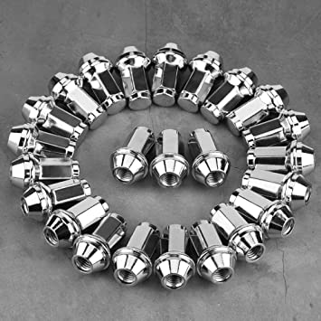 Image of Qiilu 24Pcs Wheel Locking Replacement Lug Nuts for Ford F150