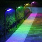 Picture of ROSHWEY 4 Pack Solar Landscape Lights 7 Colors 12 LED Beads