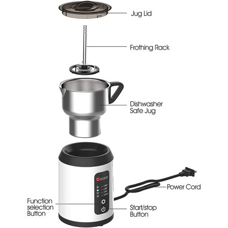 Photo of Casara Electric Milk Frother and Steamer for Cappuccino, Latte, Matcha, Hot Chocolate