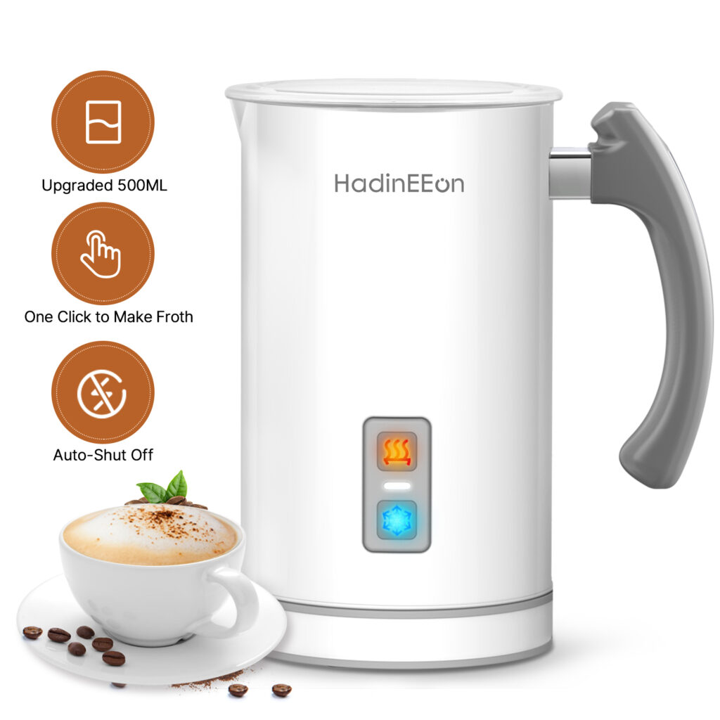Image of HadinEEon Electric Milk Frother & Steamer
